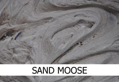 Sand and shaving foam mixed together to make sand moose