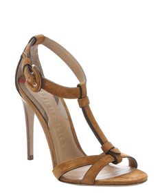burberry women's heels   Burberry women's malt brown suede 'Linthorpe' t-strap stiletto ...