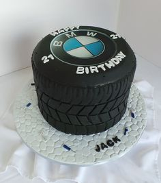 21st BMW Tyre themed birthday cake