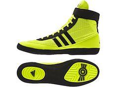 f04103b50a0cd3 Adidas Combat Speed 4 Senior Wrestling Boxing Shoes Yellow black Size 12 UK   Amazon.co.uk  Shoes   Bags
