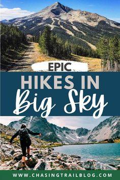 Hiking Spots, Hiking Trails, Big Sky Resort, Hiking Usa, Usa Places To Visit, Big Sky Montana, Us Travel Destinations, United States Travel, Travel Usa