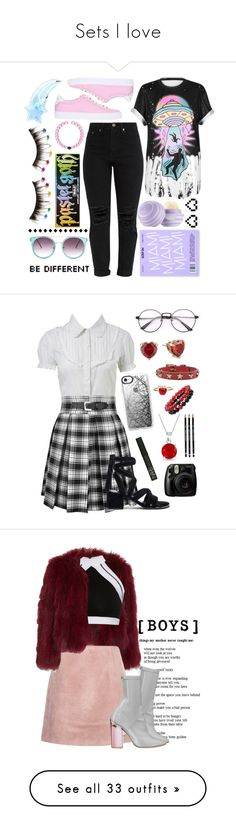 """""""Sets I love"""" by carlou863 ❤ liked on Polyvore featuring WithChic, Givenchy, Kat Von D, FromNicLove, Retrò, Floats, Miss Selfridge, Senso, Casetify and Betsey Johnson"""