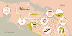 Map: Alameda as a Retro Oasis