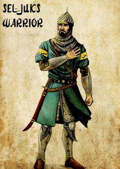 Seljuk Turkish warrior during the crusades