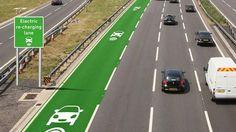 Reino Unido prueba carreteras con recarga inalámbrica para coches mientras se conduce.