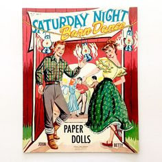 Uncut and complete paper doll book. All pages including front and back covers are included in the photos. 4 punch out dolls, 4 pages Measures approximately 10 x 12.5 Book and pages are in very good vintage condition. | eBay!