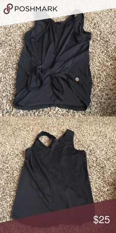 Tie-Front or Back Tank Top No Longer Available at Lululemon; Size 4; Gently Used lululemon athletica Tops Tank Tops