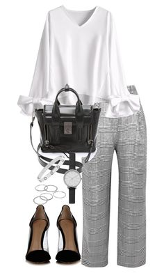 """""""Untitled #4621"""" by theeuropeancloset on Polyvore featuring Carmen March, Gianvito Rossi, 3.1 Phillip Lim, Skagen and Apt. 9"""
