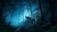 Blue dark forest - Desktop Nexus Wallpapers http://nature.desktopnexus.com/wallpaper/1398436/