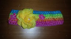 Check out this item in my Etsy shop https://www.etsy.com/listing/227063451/rainbowyellow-rose-headband-6-12-mo
