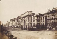Henri Le Secq - Démolitions de Paris, Porte Saint Martin, 1853