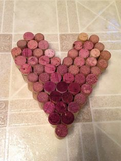 A heart made from wine corks