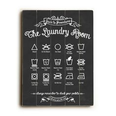 Laundry Vintage Planked Wood Sign