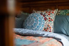 Crochet lace is a great choice for a pillow. Doily Pillow Closeup