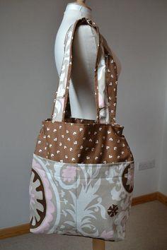Tote simple and nice Suzani motiff beach bag by margoshka on Etsy, $29.00