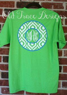 Short Sleeve Monogram Ikat T Shirt Personalized Custom by OldTrace, $22.00 #monogram #ikat #tshirt
