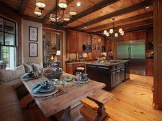 Crazy Fox Lodge - traditional - kitchen - atlanta - Modern Rustic Homes