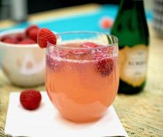 This fizzy drink looks pretty in pink! Serve Raspberry Mimosas at your next brunch get-together for a fresh take on the classic recipe.