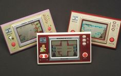 Nintendo consoles: a history in pictures - The first handheld electronic games from Nintendo were produced between 1980 and 1991 and featured a single game played on an LED screen. 59 different games were released including all-time greats such as Donkey Kong, The Legend of Zelda, and Mario Bros. Vintage Games, Vintage Toys, Nintendo Handheld Consoles, Evolution Of Video Games, Gambling Games, Game & Watch, Different Games, Games To Play, Home