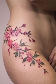 Jasper Andres flower tattoo