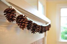 super cheap to make!! could just leave the pine cones natural OR spray them with glitter