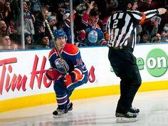#14 - Jordan Eberle @Edmontonian Oilers  April 3rd, 2012 contest.
