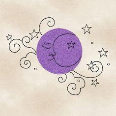 Applique Moon #12497-08