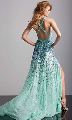 mint green prom dress - why could they not have this 12 year ago??? Oh well....I still had a mint dress on!
