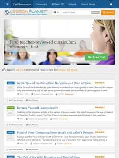 Search Teacher-Reviewed Worksheets and Lesson Plans about POINT OF VIEW