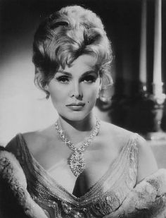 Zsa Zsa Gabor...elder sister to Eva Gabor.  *Star on Hollywood Walk of Fame for Television, 6915 Hollywood Blvd.