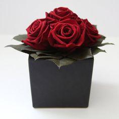 Burgundy Preserved Rose Arrangement  - More Great ideas from DriedDecor.com