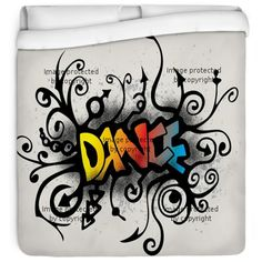 Dance the night away with our Dance Graffiti bedding design at http://www.visionbedding.com/dance-graffiti-style-queen-full-comforter-p-516722.html
