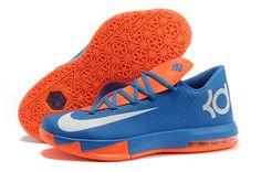 Nike KD VI (6) Men's Shoes Blue/Orange