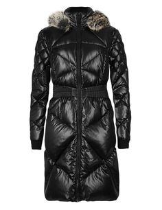 Quilted Padded & Hooded Overcoat with Stormwear™ | M&S