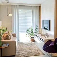 Salon pequeño muy aprovechado #salón #decoración #hogar #habitissimo