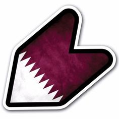 Grunge Qatar - JDM Wakaba Leaf Flag Decal Sticker Car Macbook Shoshinsha Honda #CUSTOMI