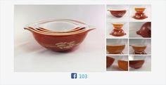 #Vintage #AutumnHarvest #Pyrex Mixing Bowls Set of 4 #CinderellaBowls #gotvintage