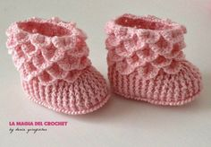 La Magia del Crochet: BOTITAS DE BEBE