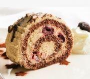 Gesztenyetekercs meggyes gesztenyemousse-szal töltve Zelleitündi módra Muffin, Pie, Breakfast, Torte, Morning Coffee, Cake, Fruit Cakes, Muffins, Pies