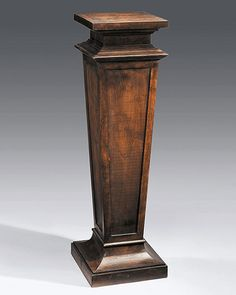pedestals - carved wood pedestal hand-crafted in Italy in 19th century Empire style