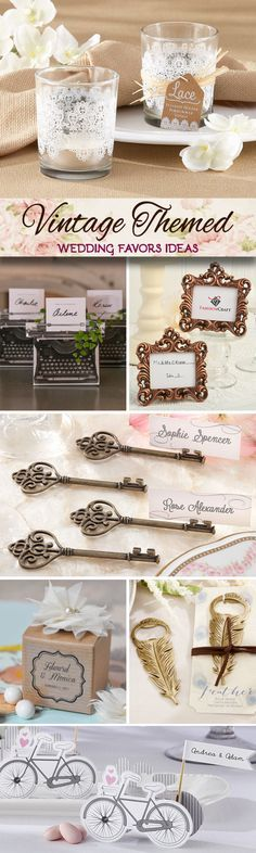 100 Vintage Themed Wedding Favor Ideas - trending now are vintage key and bicycle inspired favors!