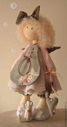 Коллекционные куклы ручной работы. Ярмарка Мастеров - ручная работа Кукла текстильная Lola ПРОДАНА. Handmade.