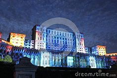 House Of Parliament - Night, Bucharest, Romania Editorial Image - Image of government, european: 59911075 Bucharest Romania, Houses Of Parliament, Light Project, Image House, Big Ben, Facade, Vectors, Sign, Lights