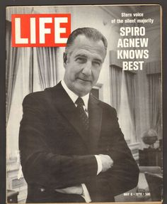 Life Magazine May 8 1970 Spiro Agnew Knows Best Stern Voice Silent Majority May 8th, Silent Majority, Life Magazine, The Voice, Books, Fictional Characters, Ebay, Libros, Book