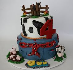And Everything Sweet: Taylor's 4th Birthday Farm Cake