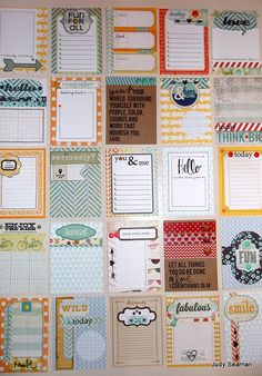 My Journaling Cards by CaliWrites, via Flickr