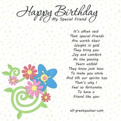 Discover and share Special Friend Birthday Quotes. Explore our collection of motivational and famous quotes by authors you know and love. Happy Birthday Wishes For Her, Funny Happy Birthday Images, Free Birthday Card, Birthday Wishes And Images, Birthday Wishes Messages, Valentines Day Wishes, Wishes For Friends, Birthday Cards For Friends, 19 Birthday