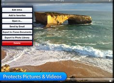 Share your photos and videos via email or you can back them up via iTunes or by exporting them to your photo library