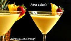 Zielone koktajle: ananas + mleko kokosowe + banan + stewia + cytryna + kurkuma + sól