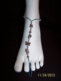Gray pearl/crystal with green seed bead and by GreenBridalBoutique, $35.00